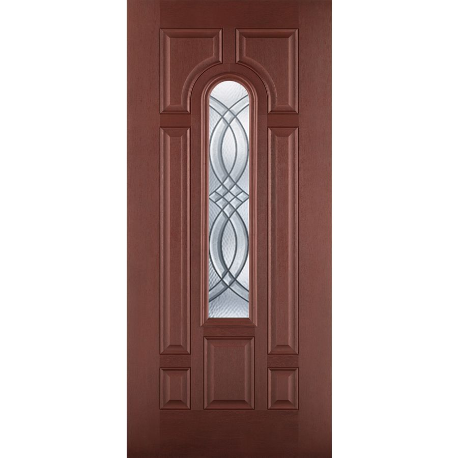 Shop Benchmark By Therma Tru 36 In Decorative Mahogany Inswing Entry