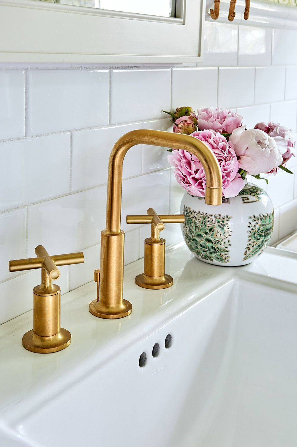 Photo of beautiful Kohler Purist modern gold bathroom fittings – I knew I wanted …