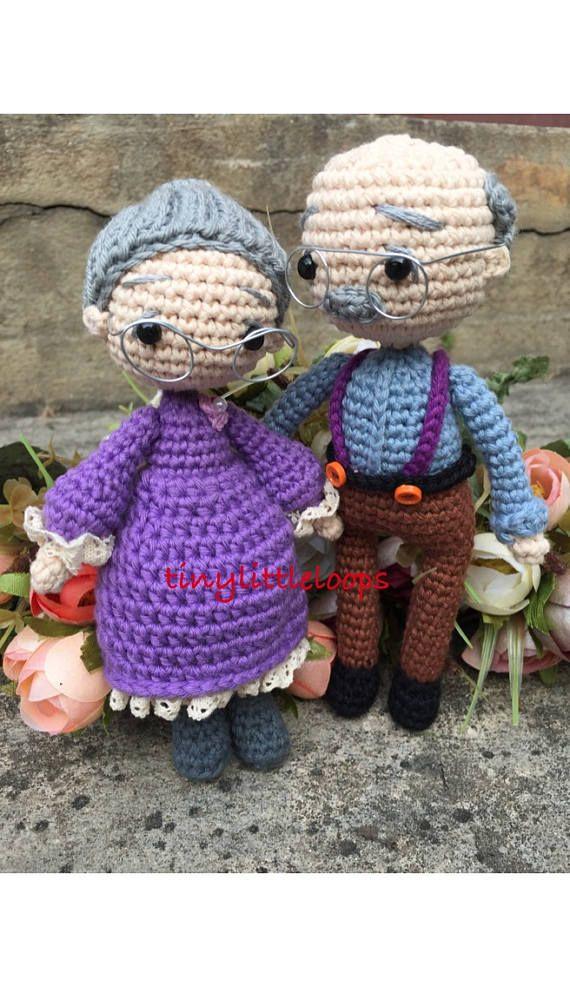 Grandpa Grandma Crochet Dolls Bride And Groom Crochet Doll Wedding