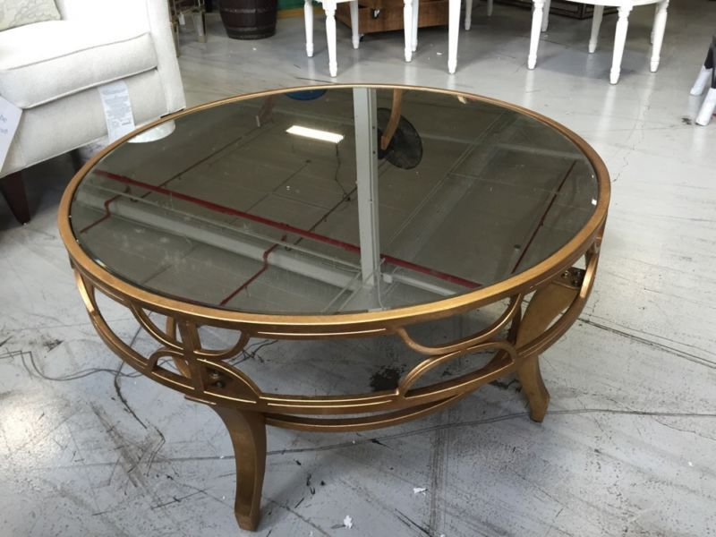 Lena Mirrored Coffee Table antiqued gold fretwork mirror Neiman