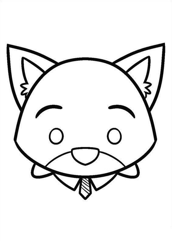 disney tsum tsum para colorear nick wild | COLOREAR - CHICOS ...
