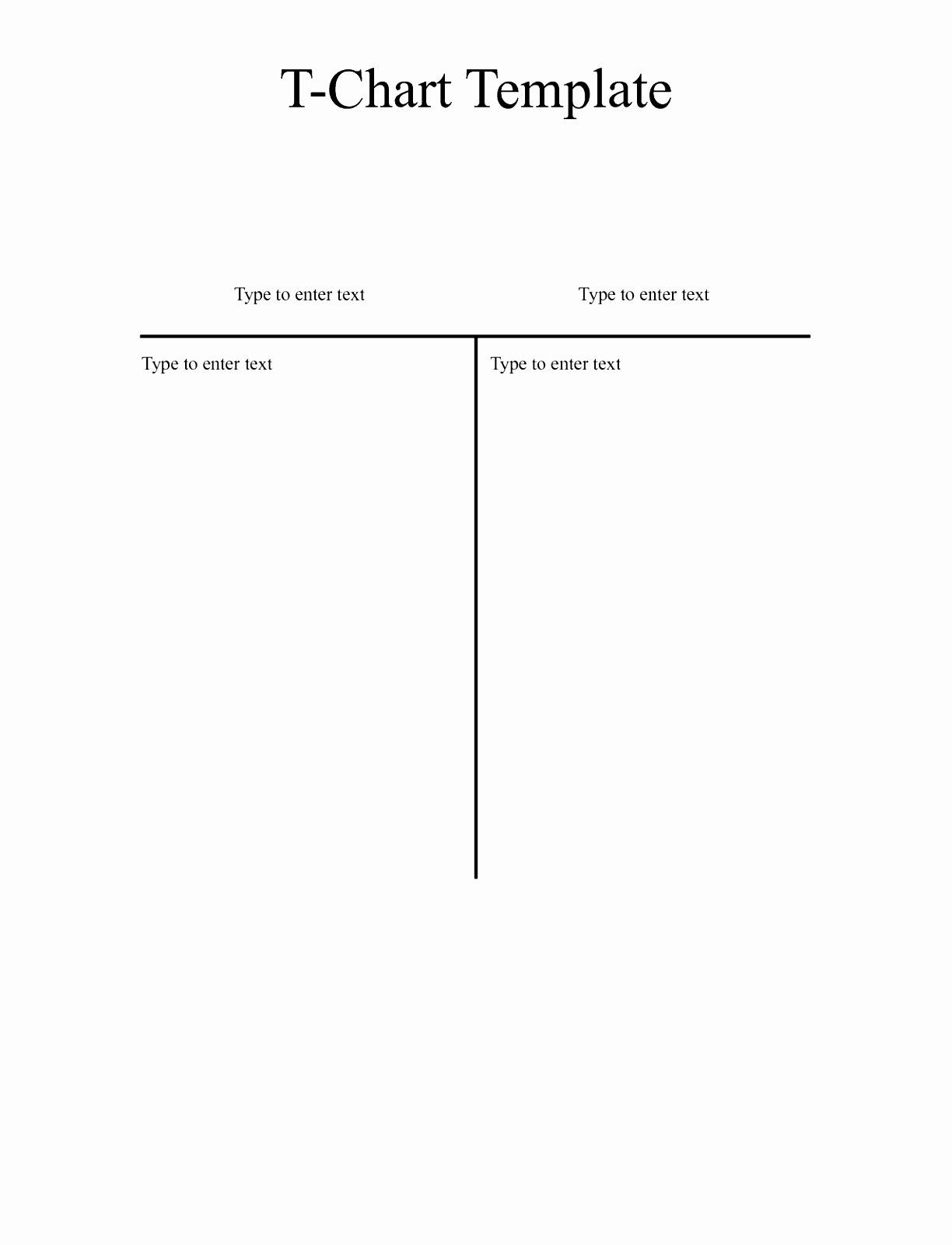 T Chart Template Word Best Of 6 T Chart Template For Word