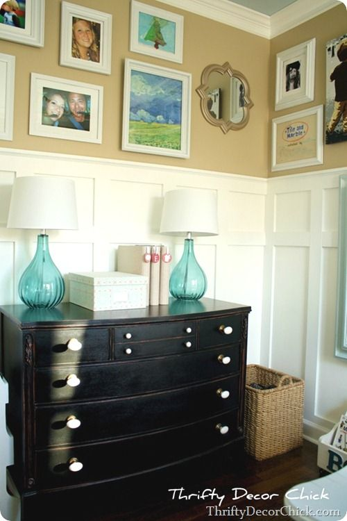 beautiful bright office. Incredible Before And After: A Beautiful Bright Office @ThriftyDecorChick -