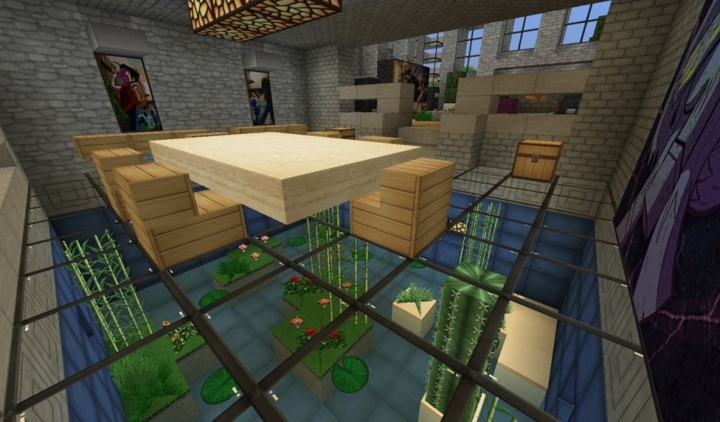 Living Room Minecraft | Minecraft house designs, Minecraft ...