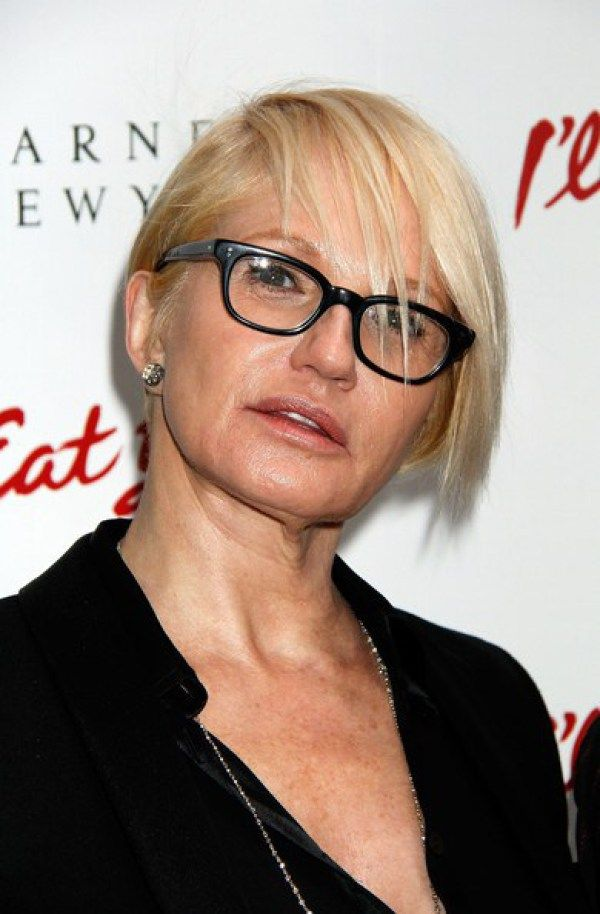 Ellen Barkin Sharp Bang Short Haircut Ellen Barkin Is Diva