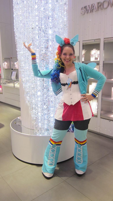 Pamela Ptak Corsetry - Original MLP Rainbow Dash Cosplay modeled ...