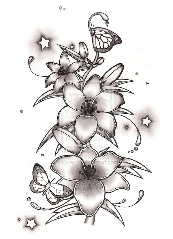 small printable butterflies - Google Search | Lily tattoo ...