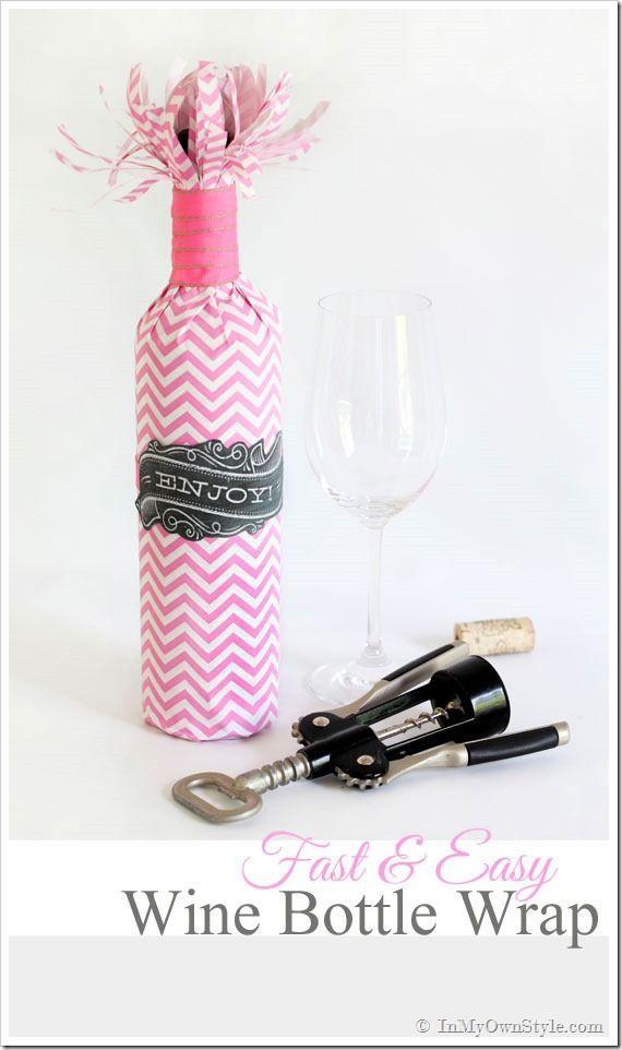 Fast Easy Wine Bottle Wrap Diy Wine Bottle Wine