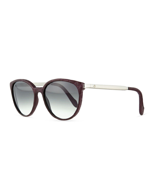 4d2dae23ba Crocodile Sunglasses with Metal Arms