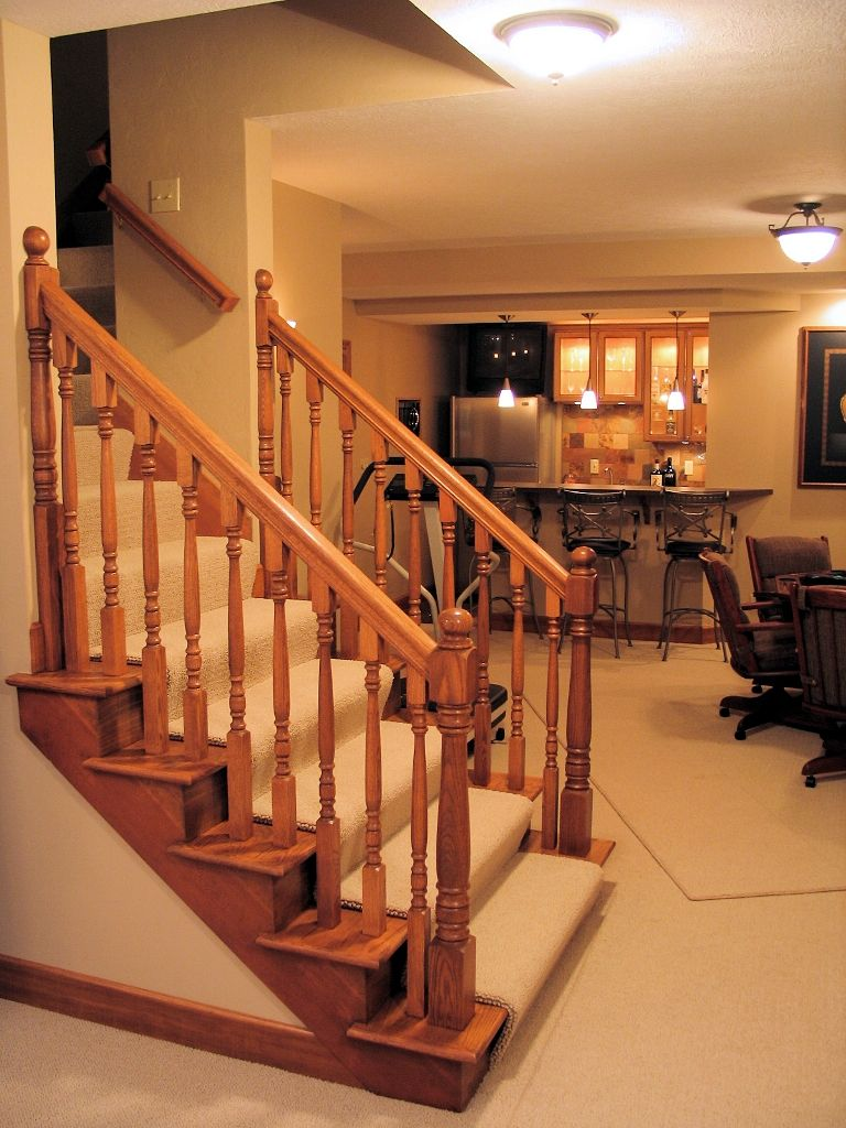 Basement Stair Designs Plans wood handrails for interior |  wood staircase spindles