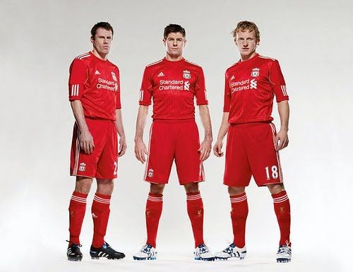 Carragher, Gerrard, and Kuyt.
