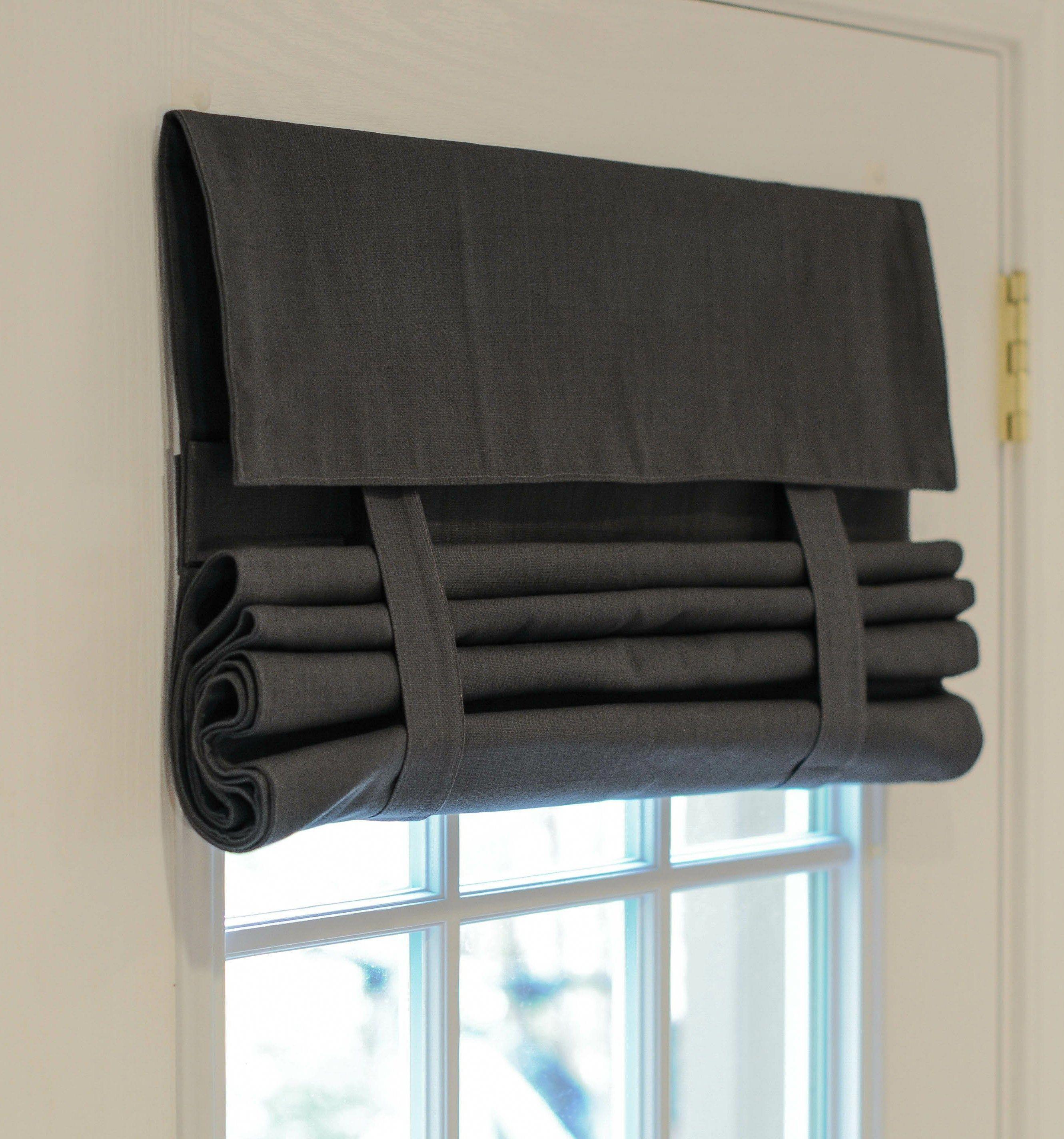 Dark Gray French Door Curtain