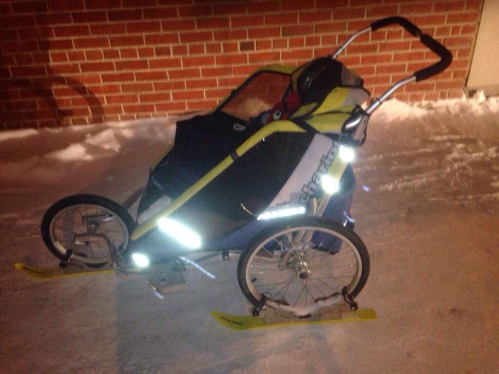 #chariot with #polarstroller #strollerskis | Skiing ...