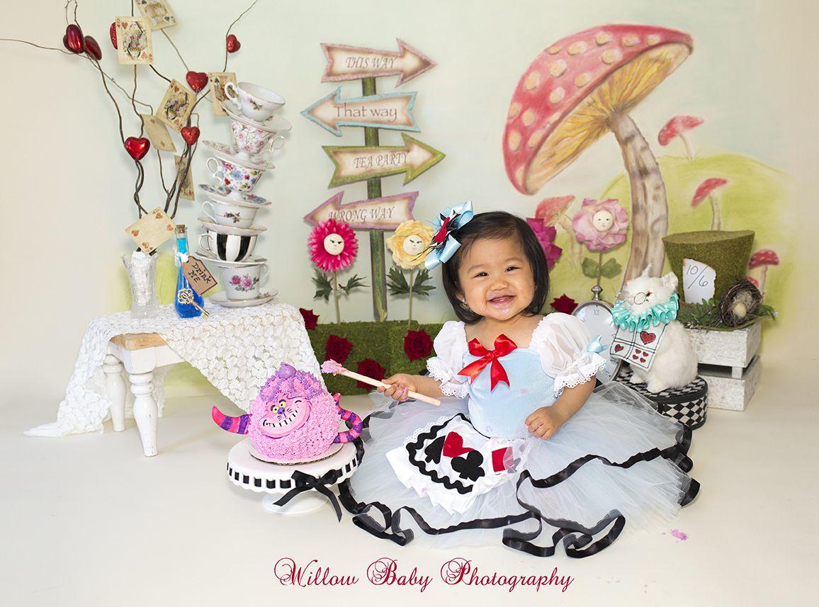 99b71115188b Alice In Wonderland Cake Smash #Firstbirthday Cake Smash Fun with Alice in  Wonderland #wiilow_baby_photography