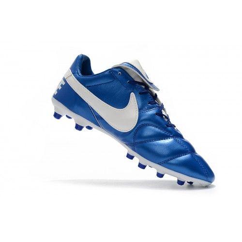 huge discount efdd2 8adaf Botines 2018 Nike Premier II 2.0 FG Azules Blancas
