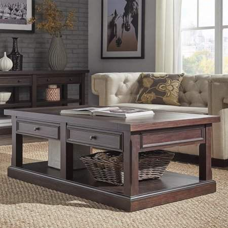 Weston Home Elias Espresso Finish Wood Accent Table Coffee Table