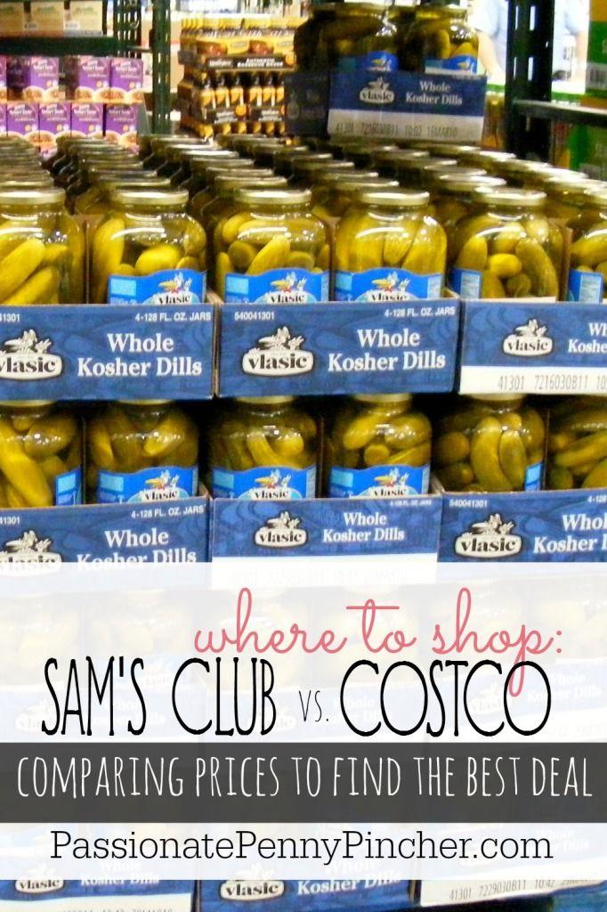 Sam's Club Vs. Costco Prices Costco prices, Costco
