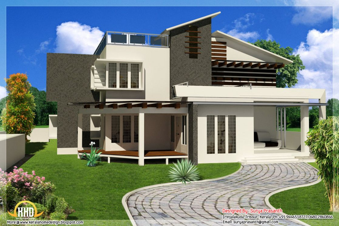 Contemporary Modern House Plans Smalltowndjs Com Houses Plans And Designs Contemporary House Design Beautiful Modern Homes Modern House Design