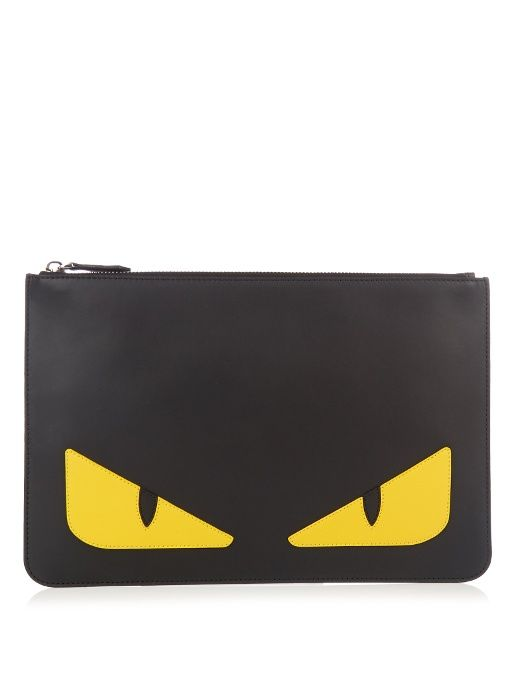481c1d0428e3 FENDI Bag Bugs leather pouch.  fendi  pouch