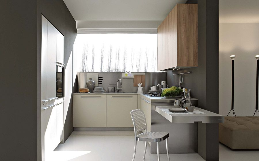 Modern Italian Kitchens With Modular Cabinets Colorful - Contemporary kitchen with modular work island el_01 by elmar