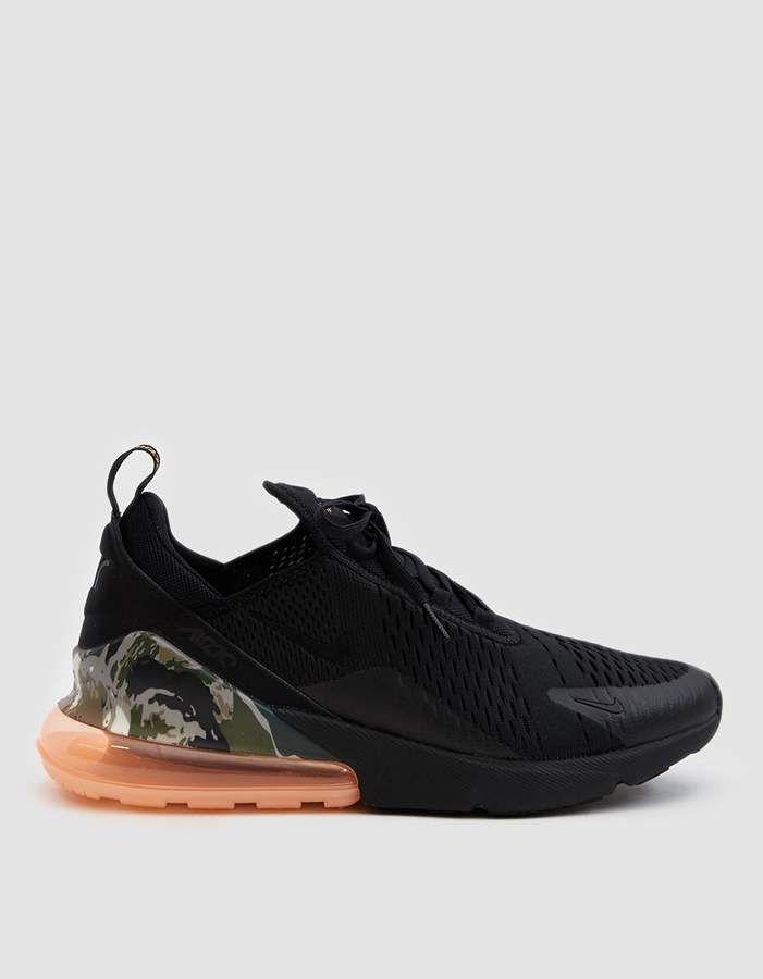 best service 562da 1cf74 Nike 270 Sneaker in Black Sunset Tint Cargo Khaki
