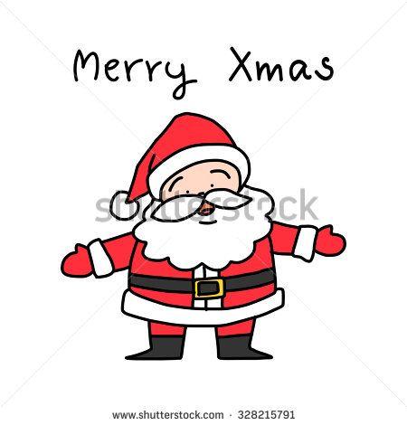 Christmas Celebration Cartoon Images.Hand Drawing Cartoon Santa Claus Vector Illustration For