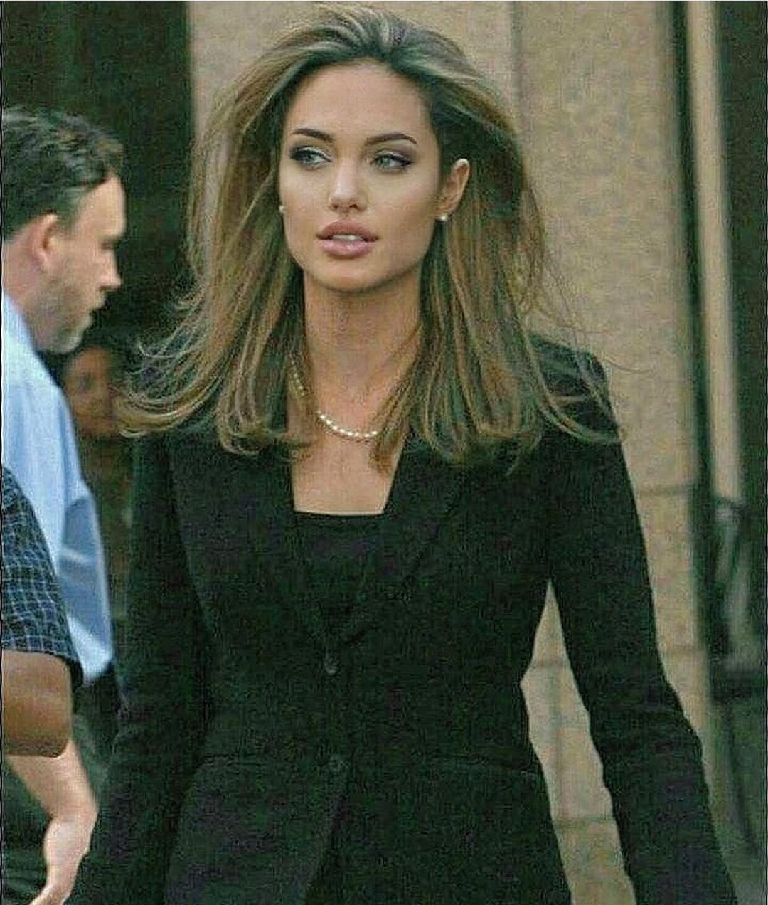 "@foxysiren on Instagram: ""Miss Angelina Jolie serving business casual and face (as usual) 🖤 #virtualstylist #styleboard #stylelook #stlying #styleinspo #aesthetic…"""