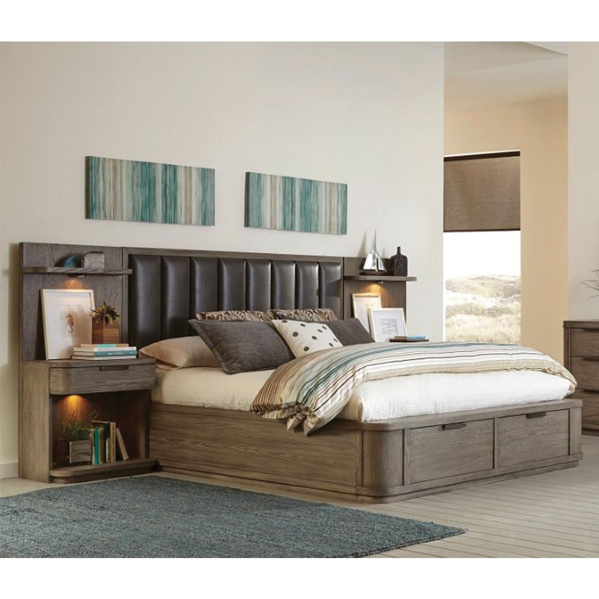 Shannon Hills Precision 3 Piece King Bedroom Set in Gray