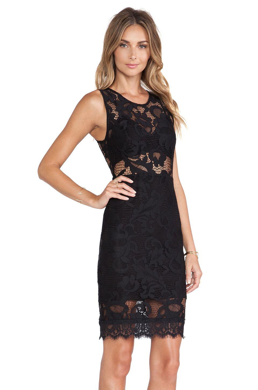 X By NBD Synthetic Nova Dress in Black - Lyst