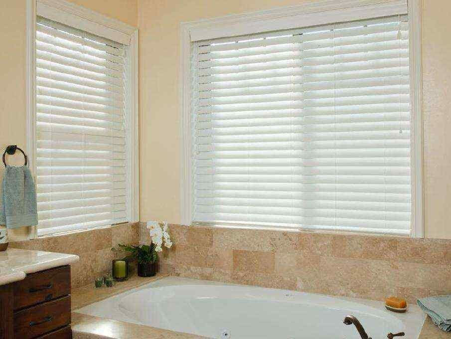 2 1/2 inches Faux Wood SmartPrivacy Blinds Wood blinds