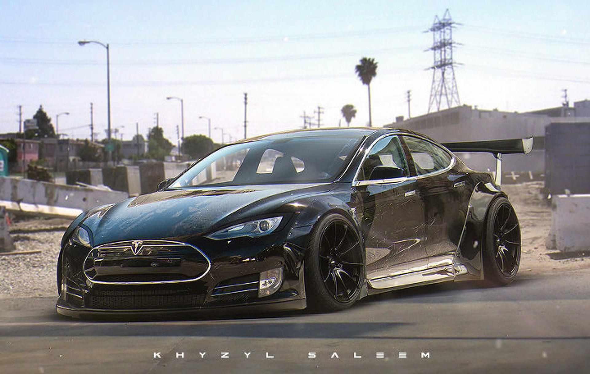 Tesla Model S Custom >> This Custom Tesla Model S Liberty Walk Needs To Happen