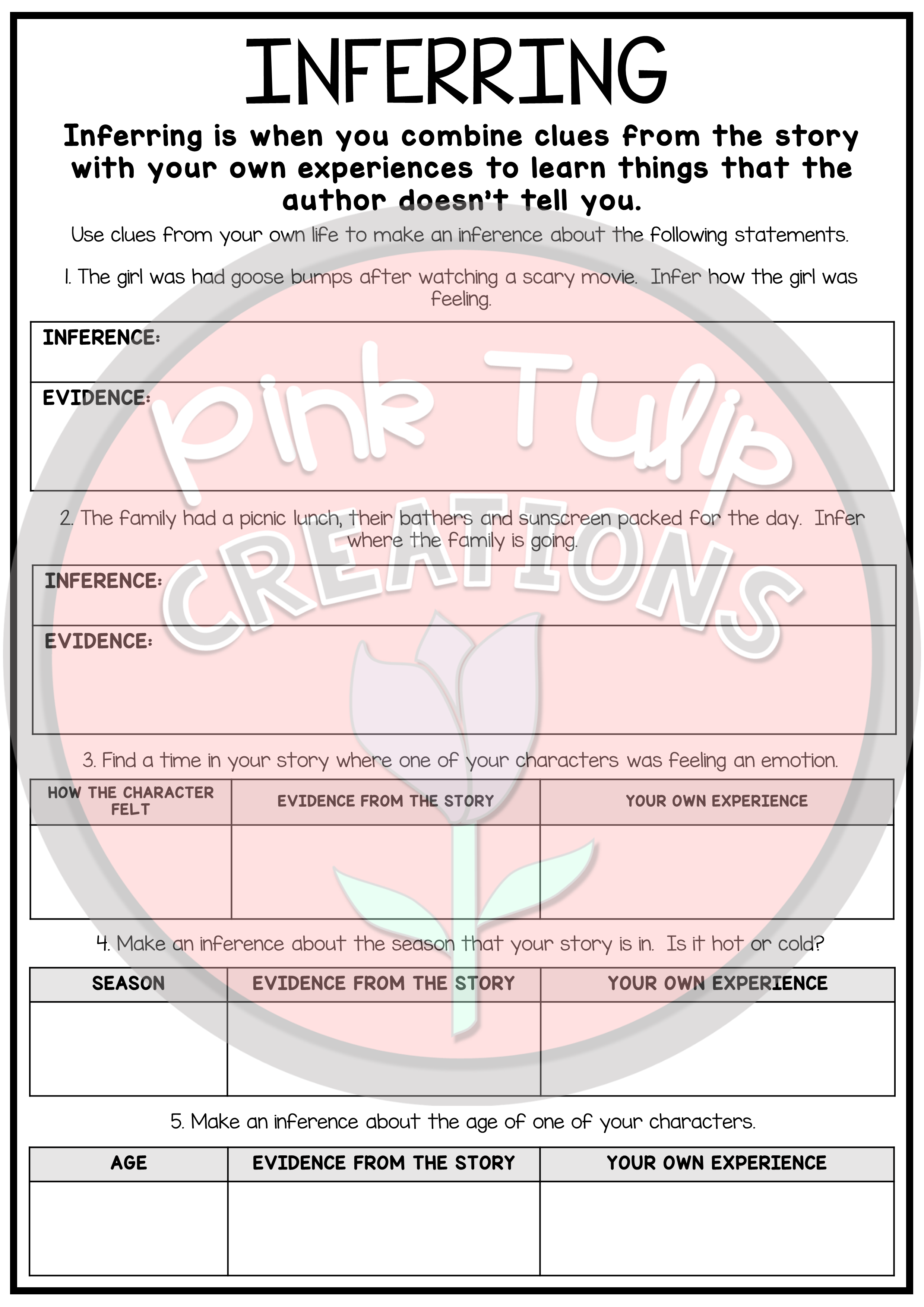 - Reading Strategies Worksheets - Use With Any Book (With Images