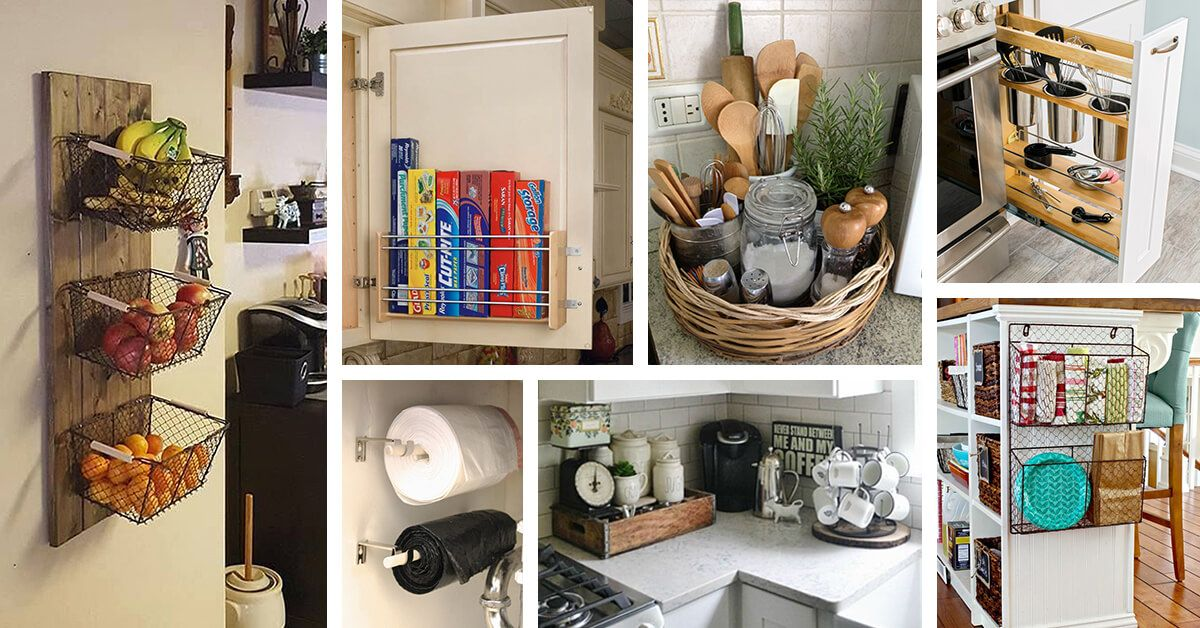 45 Practical Storage Ideas For A Small Kitchen Organization Small Kitchen Storage Ikea Kitchen Storage Small Space Kitchen Storage