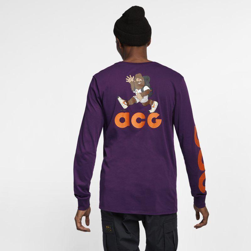 f4a5d03f Nike Sportswear ACG Men's Long-Sleeve T-Shirt - Purple | Products ...