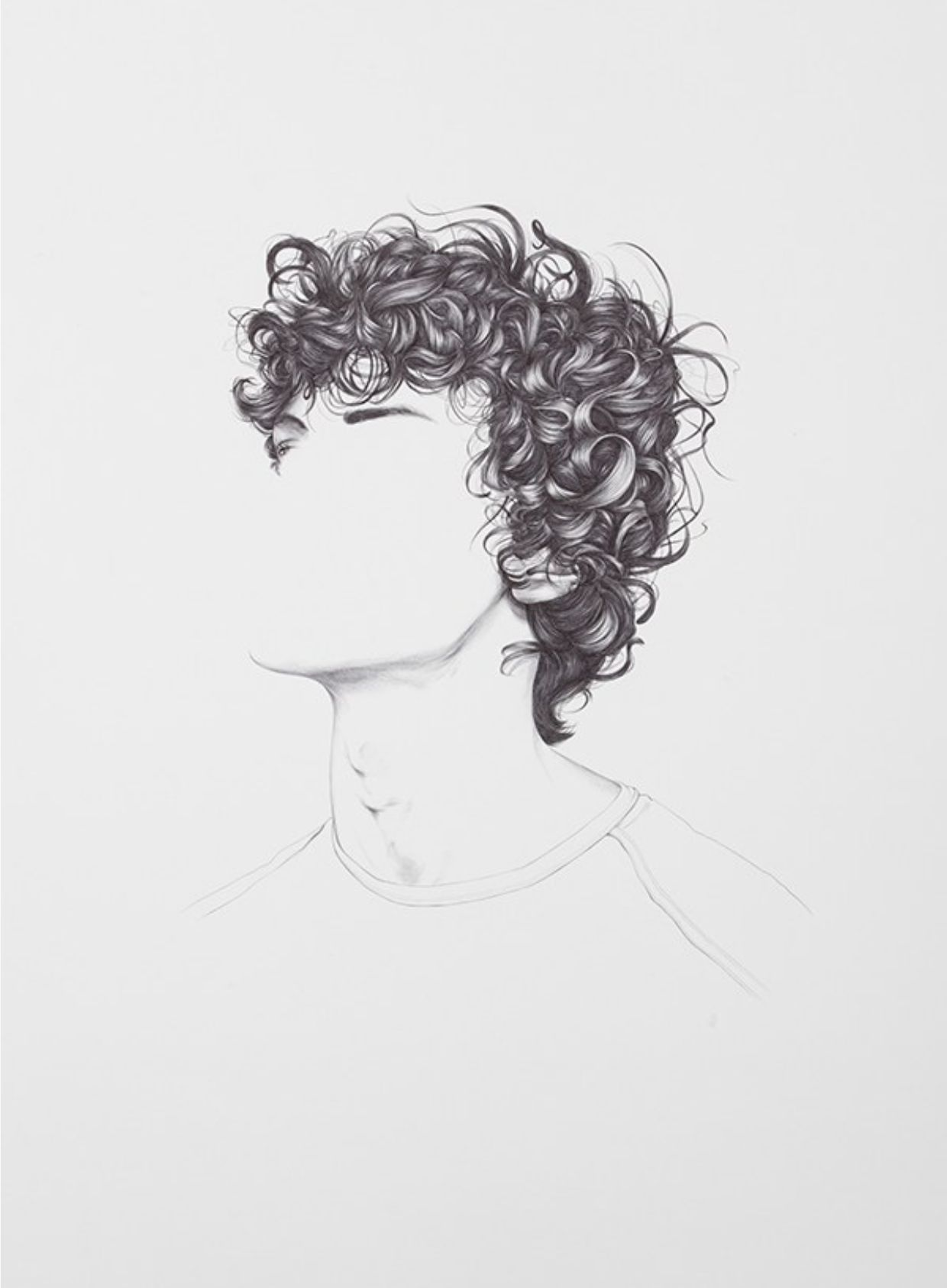 Penthos book curly hair max boy teen teenager ragazzo adolescente disegno draw sketch capelli