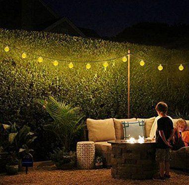 Led Weihnachtsbeleuchtung Balkon.Solar Lichterkette Außen Mit Led Kugel 6m 30led Warmweiß