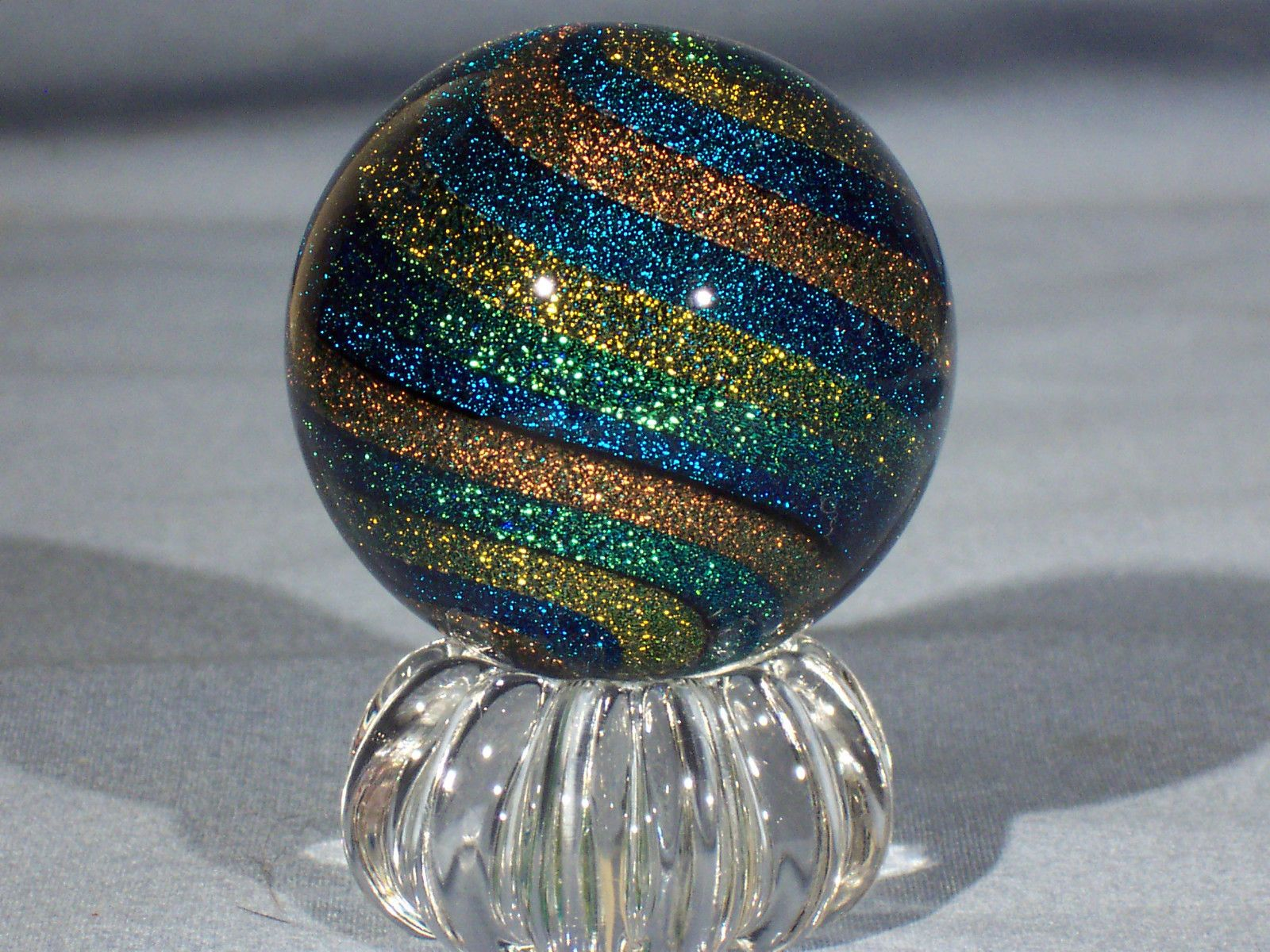 """Marbles Hand Made Art Glass James Alloway Dichroic """"Stardust"""" 144 2 05 Inch 