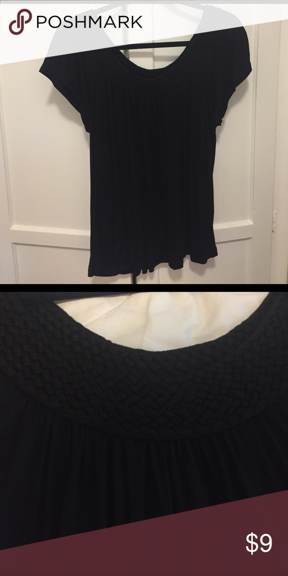 H&M Top Black H&M Top with braided neckline. Tops Tank Tops