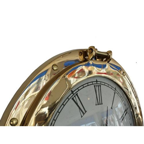Found it at Wayfair - Deluxe Class Porthole 12'' Clock