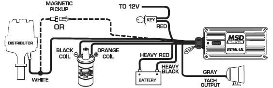 Msd 6425 Digital 6al Ignition Control Diagram Msd Ignite