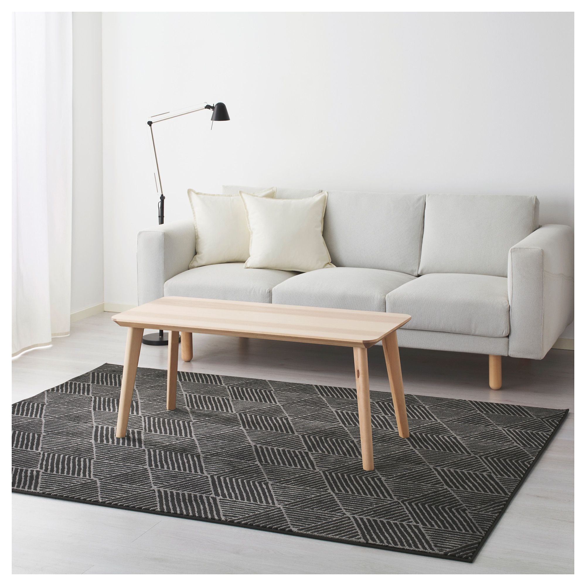 STENLILLE Rug Low Pile Grey 170x240 Cm