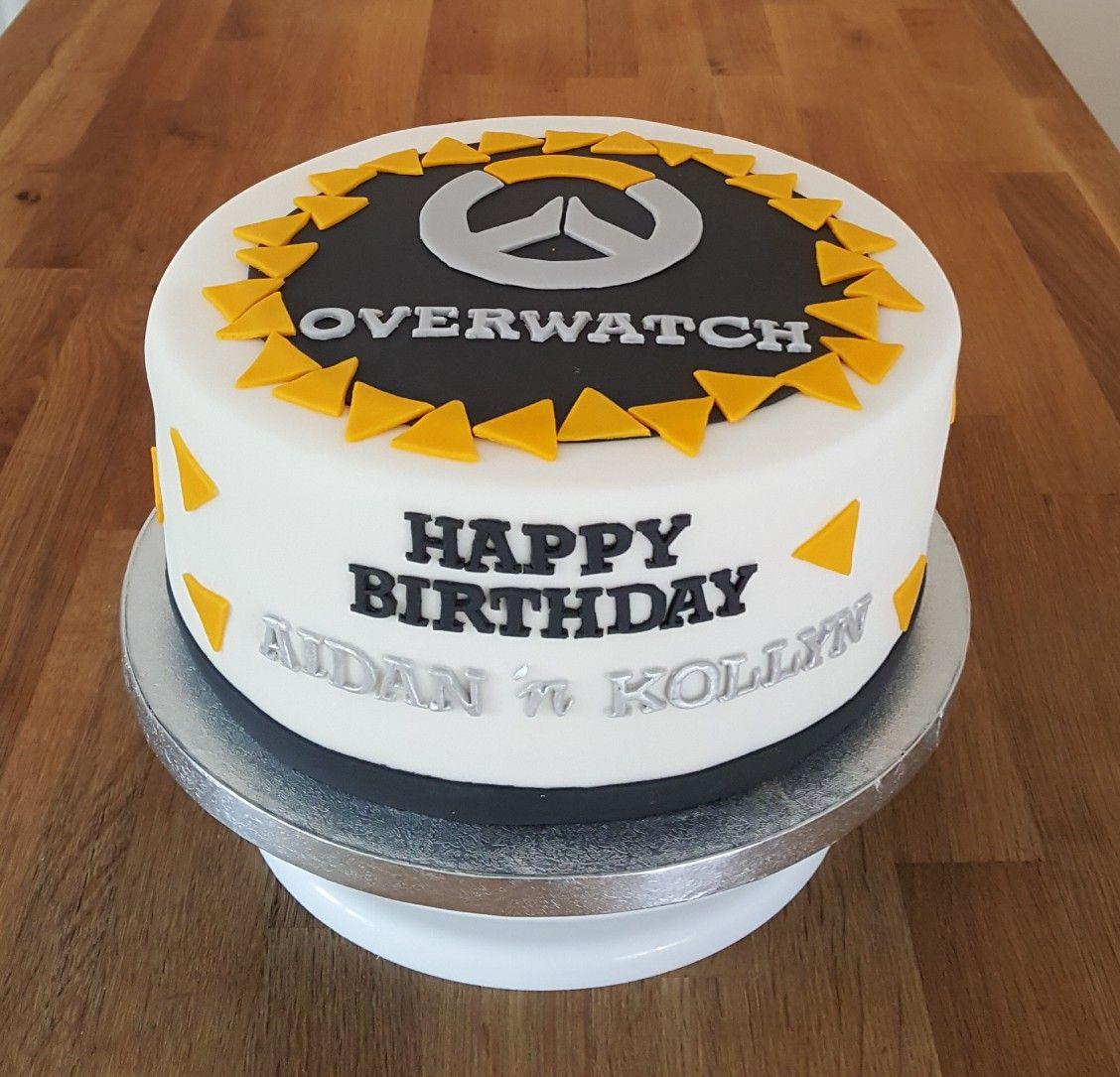 Overwatch theme birthday cake | Pasteles de cumpleaños in 2019 ...