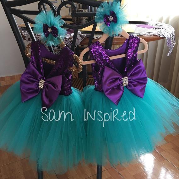 Ariel Disney Inspirado Vestido De Sirena Vestido Poco