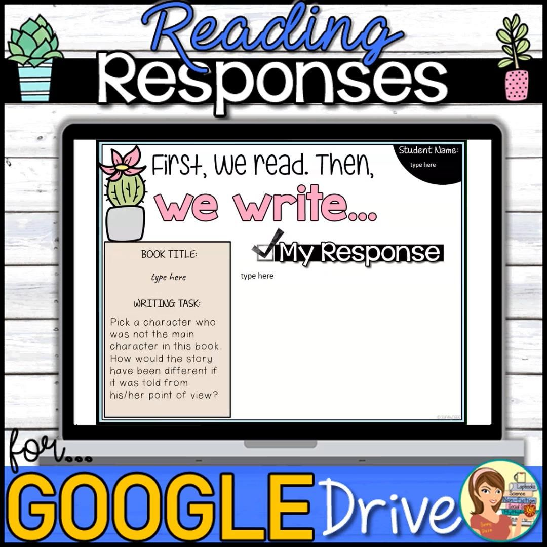 Google Slides reading response makes it easy for students to a quick writing assignment through Google Classroom. #distancelearning #distancelearningtpt #sunnydaze
