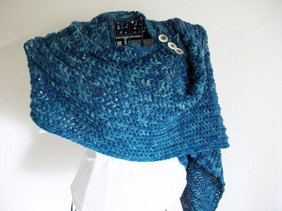 Crochet Pattern Easy Shawl Wrap Poncho Poncho Patterns Shawl And