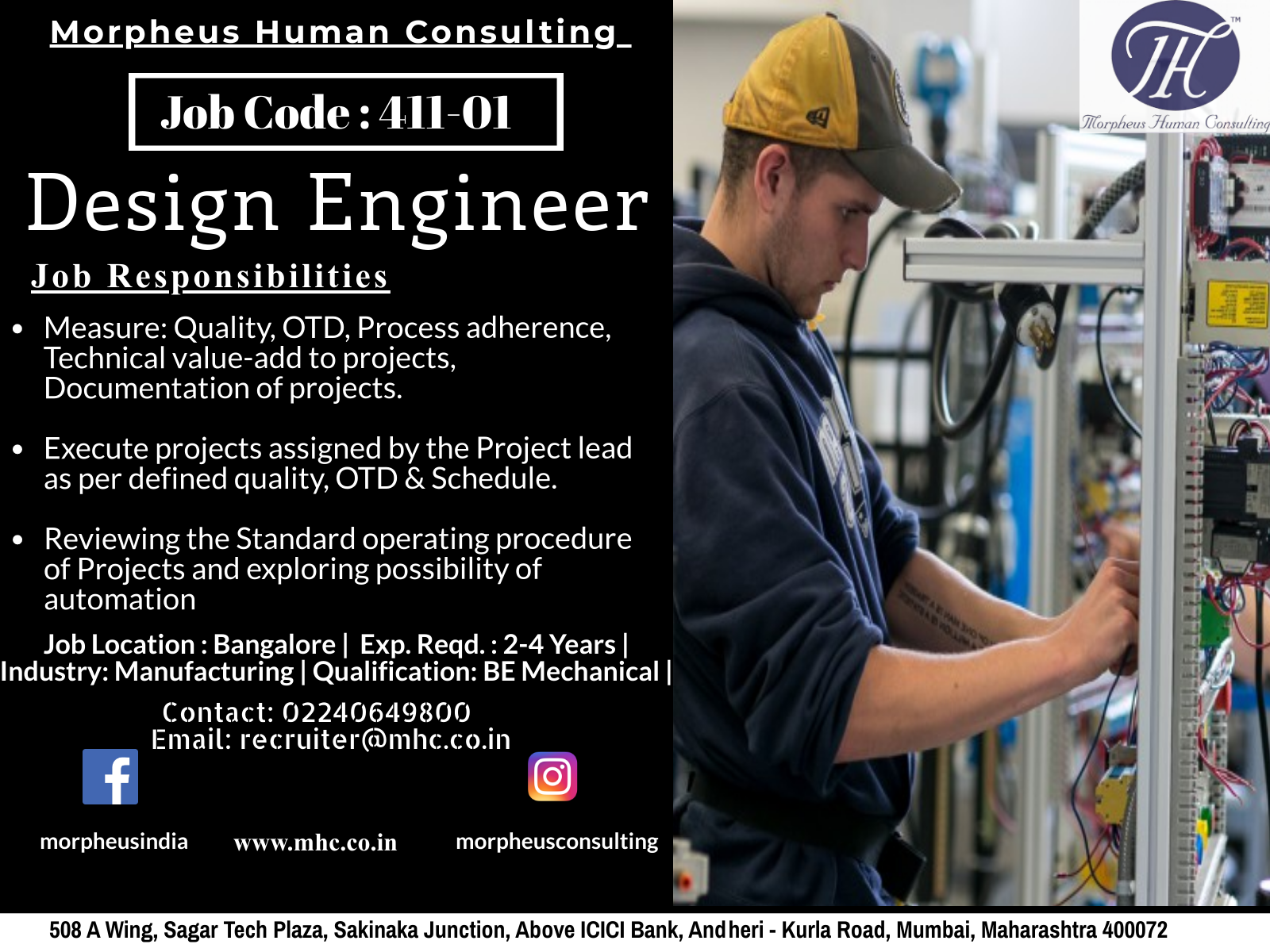 We Are Looking For A Design Engineer In Banglore For A Leading Manufacturing Company The Ideal Candidate Should Be Engineering Design Job Posting Job Hunting