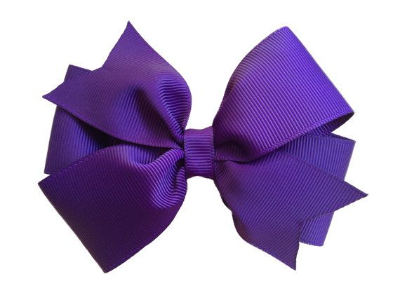 Purple Handmade Hair Bow Girl