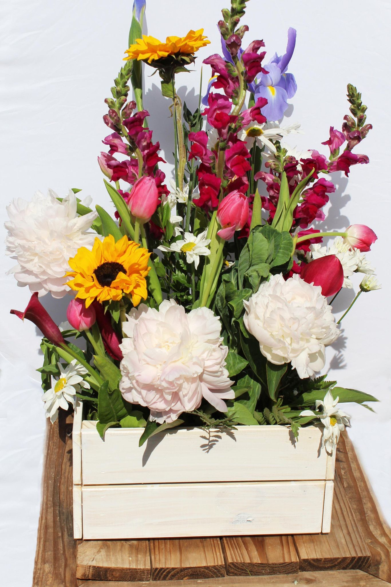 Spring Flowers In Crate Ideas Pinterest Spring Flowers Crates
