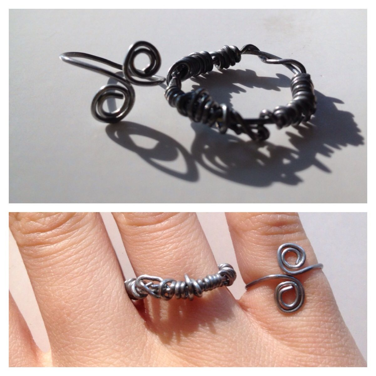 Paperclip rings•Materials/Tools used: paperclips, wire cutters ...