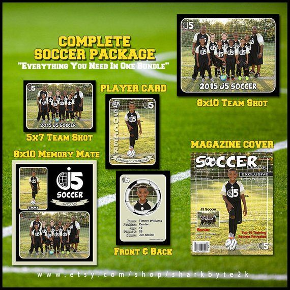 2020 Complete Soccer Football Template Package Includes Etsy Football Template Soccer Player Card